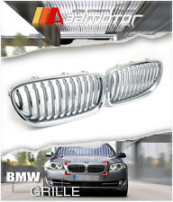 Chrome Silver Front Hood Kidney Grilles for BMW F10 F11 F18 528I 535I 550I M5