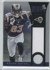 2012 Totally Certified Down and Dirty Materials /299 Brian Quick #7 Rookie