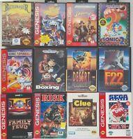 Sega Genesis Lot of 12 Games Indiana Jones Sonic Desert Battlemaster Most CIB