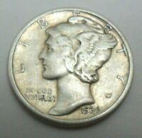 1936 P Mercury Dime circulated 90% Silver Extra Fine XF