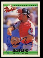 Jesse Levis #65 signed autograph auto 1992 Donruss The Rookies Baseball Card