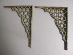 "Antique cast iron shelf brackets 7""x 9"""