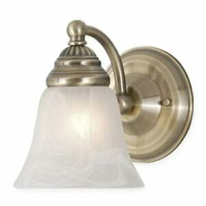 Cascadia Standford 5.25-in W 1-Light Antique Brass Wall Sconce