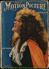 MOTION PICTURE MAGAZINE 1917 March Issue - VIOLET MERSEREAU On Cover