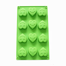 Heart Smiley Face Chocolate Jello Silicone Guest Soap Mold Ice Cube Making