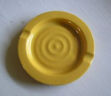 Rare Bauer Pottery Ring Ashtray Yellow