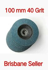"40 Pcs X 4"" X 100MM 40 Grit ZIRCONIA FLAP DISC WHEELS  METAL GRINDING SANDING"