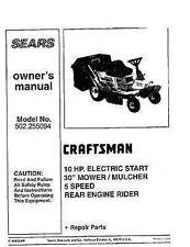 Craftsman  Lawn Tractor Operators Manual 502.255094