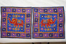 Elephant Cushion Cover x 2 Tibetan Pillow Case cotton Decorative embroidered