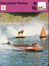 POWERBOAT RACING 1977 FOCUS ON SPORTS CARD