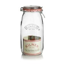 2 Litros Kilner Clip Top Tarro hermético arroz Pasta dulces de almacenamiento de 2l De Vidrio Redonda