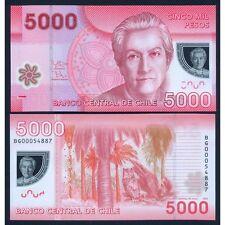 CHILE 5000 Pesos 2012 Polymer UNC P 163 c