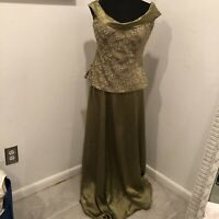 Handmade Gown two-piece Embroidered Beaded Top W Store Purchased Matching Skirt