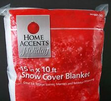 """Snow Cover Blanket 15"""" x 10' Home Accents Holiday Christmas Village Mantel Table"""