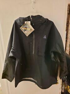 Nike ACG Gore-Tex Misery Ridge Jacket Mens XL Black Hooded Waterproof CV0634-010