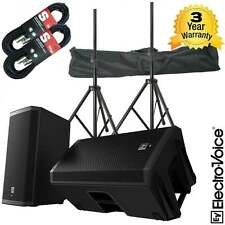"""Electro-Voice ZLX-12P 12"""" DJ Active 2000W PA Club Stereo Speaker Stand Pack BNIB"""