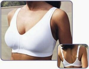 SB0018 Moving Comfort NEW 716320 White Daylite D Low Impact Soft Cups Sports Bra