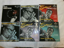 JOB LOT OF 6 LOUIS ARMSTRONG EXTENDED SINGLE RECORDS   EX