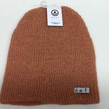 37d818653ca Neff Unisex Fold Daily Heather Peach Sand Beanie Rib Knit Hat Cuff Winter  Snow