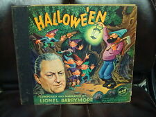 1940'S HALLOWE'EN HALLOWEEN RECORD SET LIONEL BARRYMORE MGM 10A