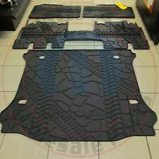 Jeep Wrangler 2007-2013 Front & Rear slush Floor mats Rear Cargo tray OEM MOPAR