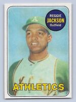 "1969 REGGIE JACKSON - Topps ""ROOKIE REPRINT"" Baseball Card # 260 - OAKLAND A'S"