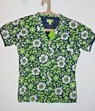 Vera Bradley Lucky You blue green floral pj pajama sleep top-S 4-6-NWT-$28