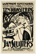 Affiche Originale - Jan Sluijters - Post-Impressioniste - Amsterdam - 1916