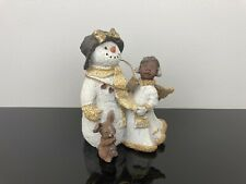 Sarah's Attic Limited Edition Snowman Figurine Frilly and Snow Crystal 1995