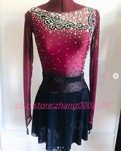 Stylish Ice Skating Dress /Rhythmic Gymnastics Costume/Dance Twirling Outfit