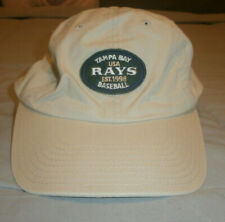 TAMPA BAY RAYS ADJUSTABLE CAP HAT MLB WORLD SERIES BEIGE AMERICAN NEEDLE