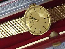 Tissot Gold Damen Uhr  Komplet aus 14K 585 Massiv Gelbgold Handaufzug Top.