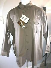 NWT Bob Allen Long Sleeve Khaki Vent Shoulder Pad Hunting Shirt Safari Club 3XL