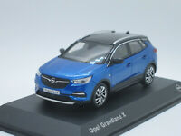 Opel Grandland X 5-door Crossover SUV 2017 blue 1/43 iSCALE Dealer Box