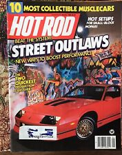1986 Hot Rod Magazine January Small Block Mopar Turn Key Racecars 100 Pg