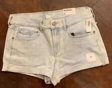 NWT Women's OLD NAVY Boyfriend Maui Blue Jean Shorts Size 4