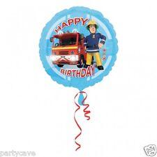 "FIREMAN SAM HAPPY BIRTHDAY PARTY 18"" FOIL BALLOON HELIUM QUALITY DECORATION"
