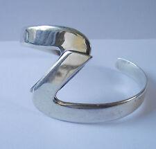S Z SHAPED BANGLE BRACELET JEWELLERY STERLING SILVER 925 23.7g
