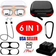 6 in 1 Silicone Protective Airpods Case Skin Cover For Apple AirPods Pro Headp..