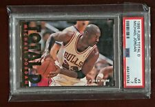 MICHAEL JORDAN CHICAGO BULLS 1995 FLEER NBA BASKETBALL TOTAL D CARD #3 PSA 7
