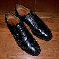 Allen Edmonds Men's 10.5 M Black Leather Bradley Wingtip Oxford Dress Shoe