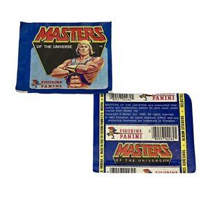 1983 MOTU STICKER ALBUM PACK (UNOPENED/SEALED) Panini Mattel RARE Lot Of 2 Packs