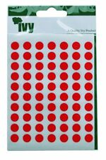 980 Sticky Red 8mm Labels Dots Round Circles Self Adhesive Stickers by Ivy