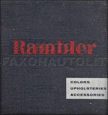 1959 AMC Rambler Color and Upholstery Dealer Album Ambassador Rebel American