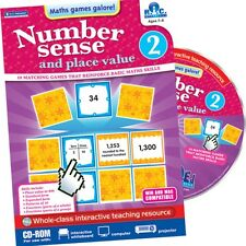 RIC Publications ~ NUMBER SENSE & PLACE VALUE ~ Ages 7+ Years ~ Interactive CD