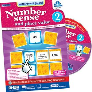NUMBER SENSE & PLACE VALUE ~ Age 7+ Years ~ Interactive CD ~ RIC Publications BN