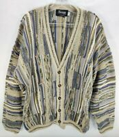 Vintage Tundra Canada Sweater Textured 3D Cosby Coogi Style Sz XL Men Mercerized