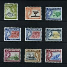 PITCAIRN ISLANDS, QEII, 1957 / 63, 9 stamps from set to 2s.6d. value, MM Cat £44