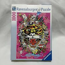 """Ravensburger 1000 Piece Puzzle 2009 Ed Hardy """"Tattoo Art"""" Tiger - Complete"""
