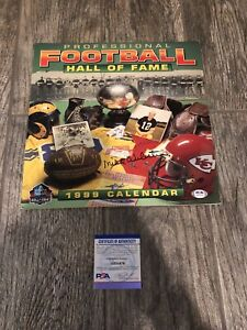 MIKE WEBSTER SIGNED NFL HALL OF FAME CALENDAR PITTSBURGH STEELERS PSA/DNA COA